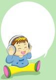 Baby singing Stock Image