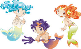 Baby Sirens  Baby Triton Royalty Free Stock Photo