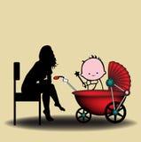 Baby-sitter Fotos de Stock