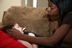Baby-sitter do bebê Foto de Stock