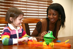 Baby-sitter do bebê Imagens de Stock Royalty Free