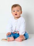 Baby sitting Stock Photos
