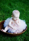 Baby Sitting in Bowl - vertical Stock Images