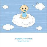 Baby sitting on a cloud Royalty Free Stock Photography