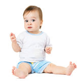 Baby sitting and hamming Stock Images