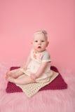 Baby Sitting Milestone Stock Image