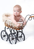 Baby in sitting stroller Royalty Free Stock Images