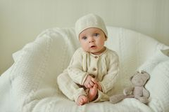 Baby is sitting Royalty Free Stock Images