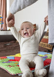 Baby sitting up Stock Image