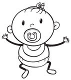 A baby sketch Royalty Free Stock Images
