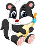 Baby skunk cartoon Royalty Free Stock Photos