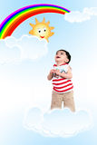 Baby in the Sky Stock Photos