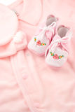 Baby sleeper booties Stock Images