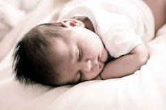 Baby sleeping Royalty Free Stock Images