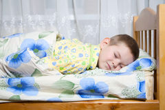 Baby sleeping. Kid dreams of sweet dreams, and fairy worlds Royalty Free Stock Image
