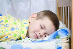 Baby sleeping. Kid dreams of sweet dreams, and fairy worlds Stock Images