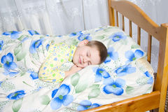 Baby sleeping. Kid dreams of sweet dreams, and fairy worlds Stock Photos