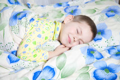 Baby sleeping. Kid dreams of sweet dreams, and fairy worlds Royalty Free Stock Photo