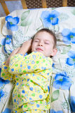 Baby sleeping. Kid dreams of sweet dreams, and fairy worlds Royalty Free Stock Photos