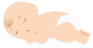 Baby sleeping. A baby sleeping with putting his thumb into his mouth Royalty Free Stock Images