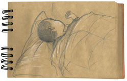 Baby sleeping 2- sketchbook Royalty Free Stock Image