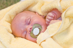 Baby sleeping Stock Images