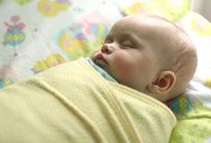 Baby sleeping stock images