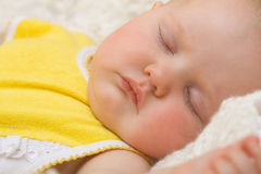Baby sleeping with Royalty Free Stock Image