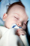 Baby Sleeping In Bed Royalty Free Stock Image