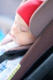 Baby sleeping in car seat Royalty Free Stock Image