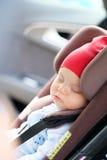 Baby sleeping in car seat Royalty Free Stock Photos
