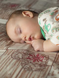 The baby is sleeping. Royalty Free Stock Images