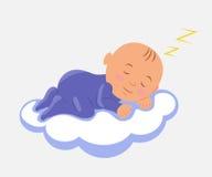 Baby Sleeping on Cloud Stock Image