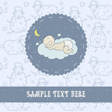 Baby sleeping on a cloud Royalty Free Stock Photography