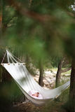 Baby sleeping in hammock Royalty Free Stock Photo
