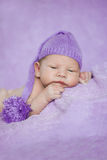 Baby sleeping. Newborn, kid art. Beauty child, boy or girl sleep Stock Images