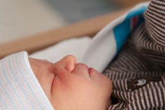 Baby: Sleeping pn Back Royalty Free Stock Photo