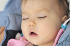 Baby sleeping portrait Royalty Free Stock Photo