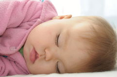 Baby sleeping quite Stock Image