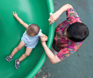 Baby slide Stock Image