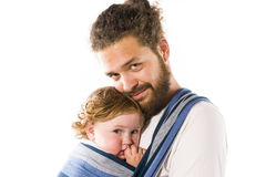 Baby sling Royalty Free Stock Photography