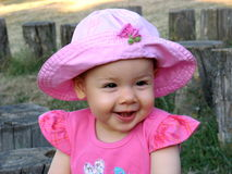 Baby smile. Little girl with beautifull smile Royalty Free Stock Photos
