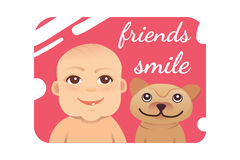 Baby smile vector illustration. Eps 10 Stock Photo