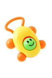 Baby smiley rattle Royalty Free Stock Images