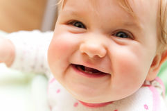 Baby smiling  Stock Images