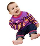 Baby smiling Stock Photography