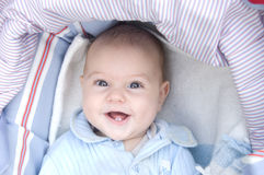 Baby smiling Royalty Free Stock Image