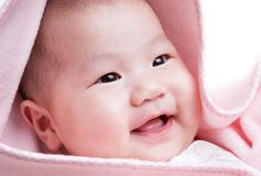 Baby smiling stock photo