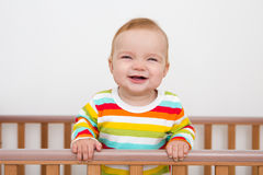 A baby is smiling Royalty Free Stock Images
