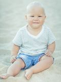 Baby smiling Royalty Free Stock Photography